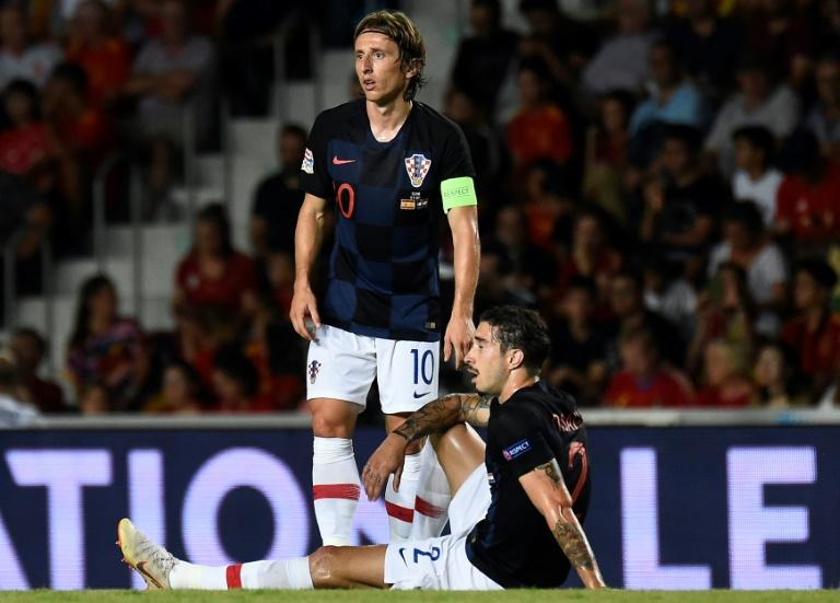 Luka Modric lors de la victoire face à la Croatie 6-0 en 2e journée de Ligue des nations le 11 septembre 2018