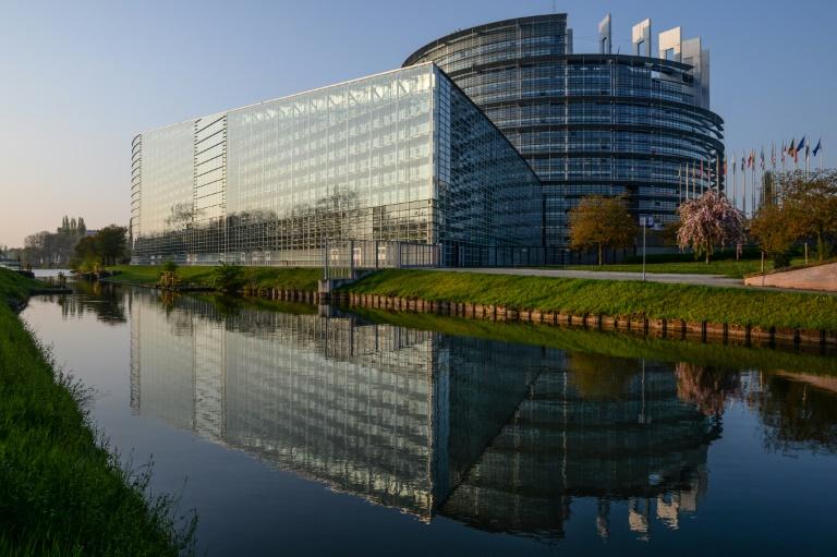 Le président du Parlement européen Antonio Tajani lors du discours sur l'état de l'Union le 12 septembre 2018 à Strasbourg.