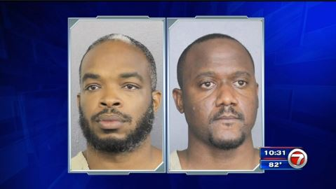 Dyson Benskin and Calvin Braithwaite were arrested in Florida.