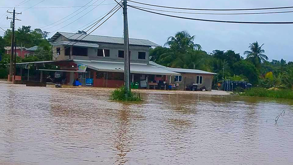 Photo: Flooding in the Caparo area in June 2017.