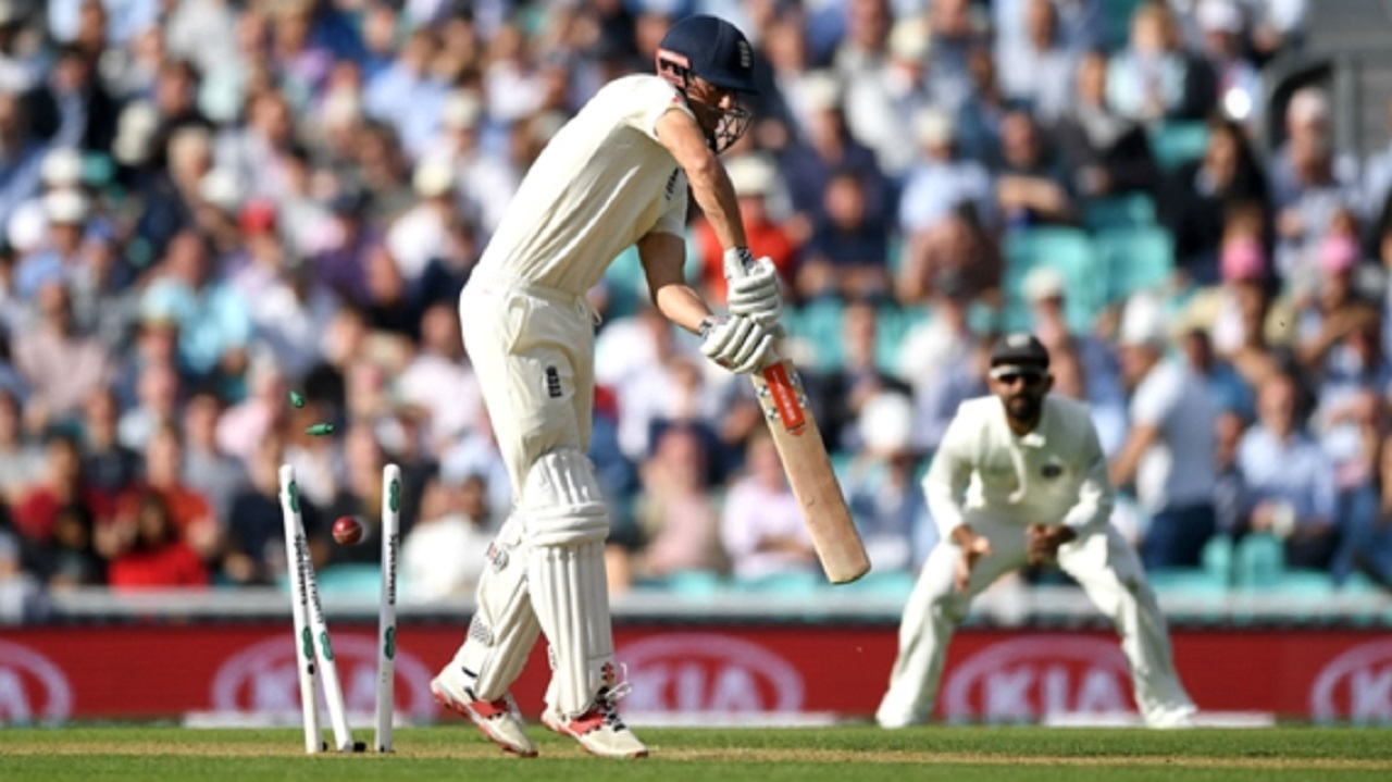 Alastair Cook is bowled during his final Test for England.