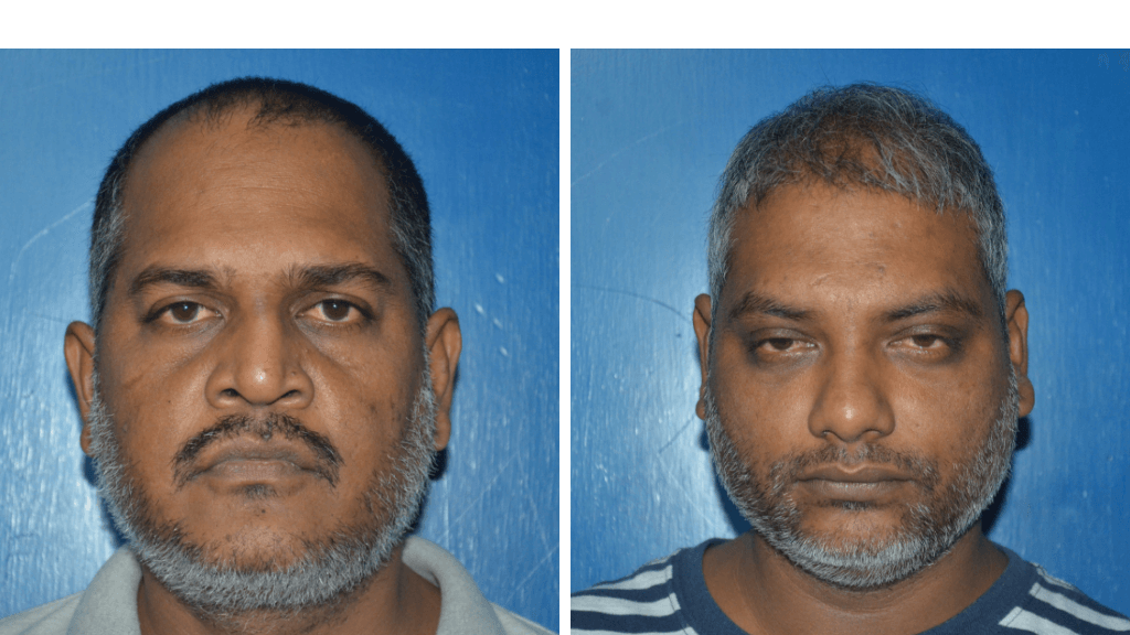 Police Constable Ian Dwarika and building contractor Shain Steven have been denied the September 6, 2018 kidnapping for ransom of Natalie