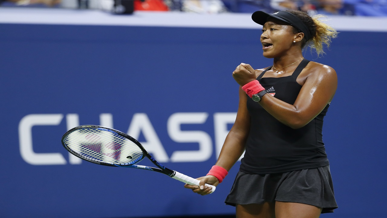 Naomi Osaka, of Japan, reacts after winning a point against Serena Williams during the women's final of the U.S. Open tennis tournament, Saturday, Sept. 8, 2018, in New York.