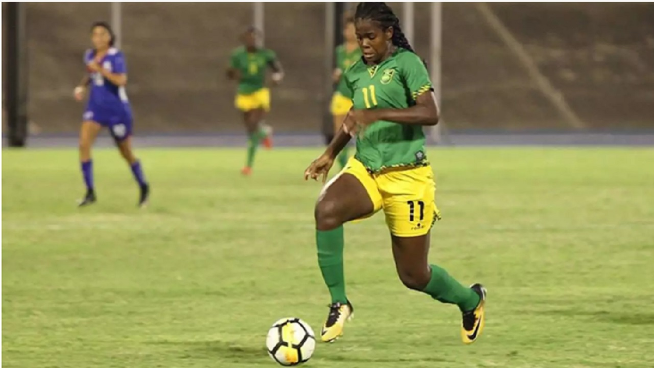 Khadija Shaw scored a brace to Jamaica against Trinidad and Tobago on Friday.