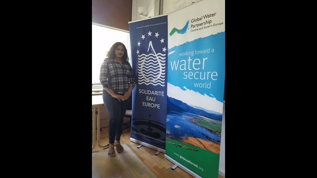 Trinidadian Nishana Ramsawak  seen here at the Water Summer School Programme in Poland. Photo: GWP-CEE.