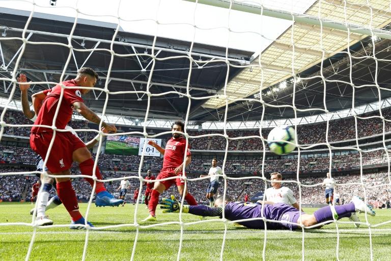 Roberto Firmino (c) buteur décisif pour Liverpool lors de la victoire à domicile face au PSG 3-2 le 18 septembre 2018 en 1re journée de C1
