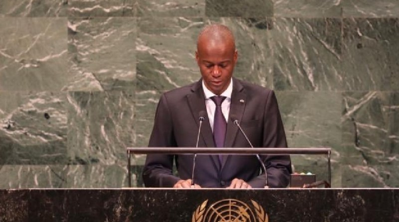 Le président Jovenel Moise, lors de son intervention à la 73e session ordinaire de l'assemblée générale de l'Onu