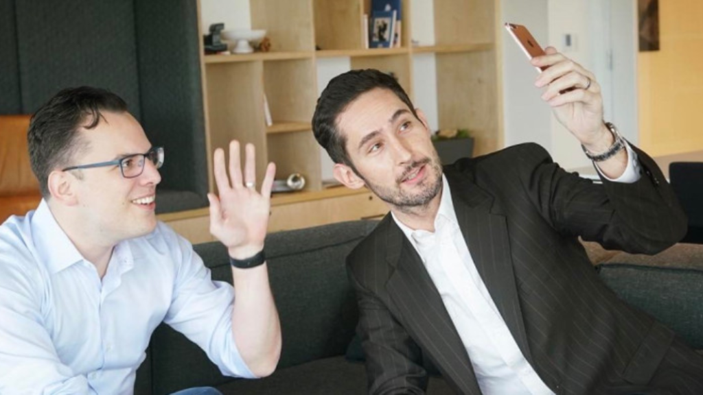 Instagram co-founders Mike Krieger (left) and Kevin Systrom