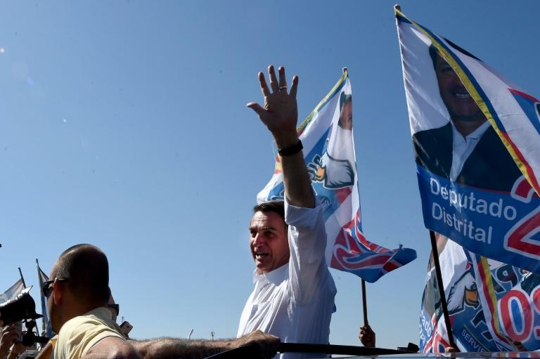 Le député d'extrême droit brésilien Jair Bolsonaro, candidat à la présidentielle, en campagne à Ceilandia le 5 septembre 2018