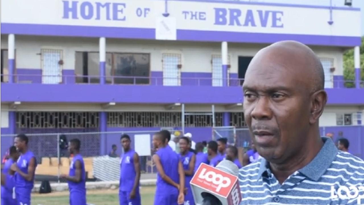 Kingston College's head coach, Ludlow Bernard.
