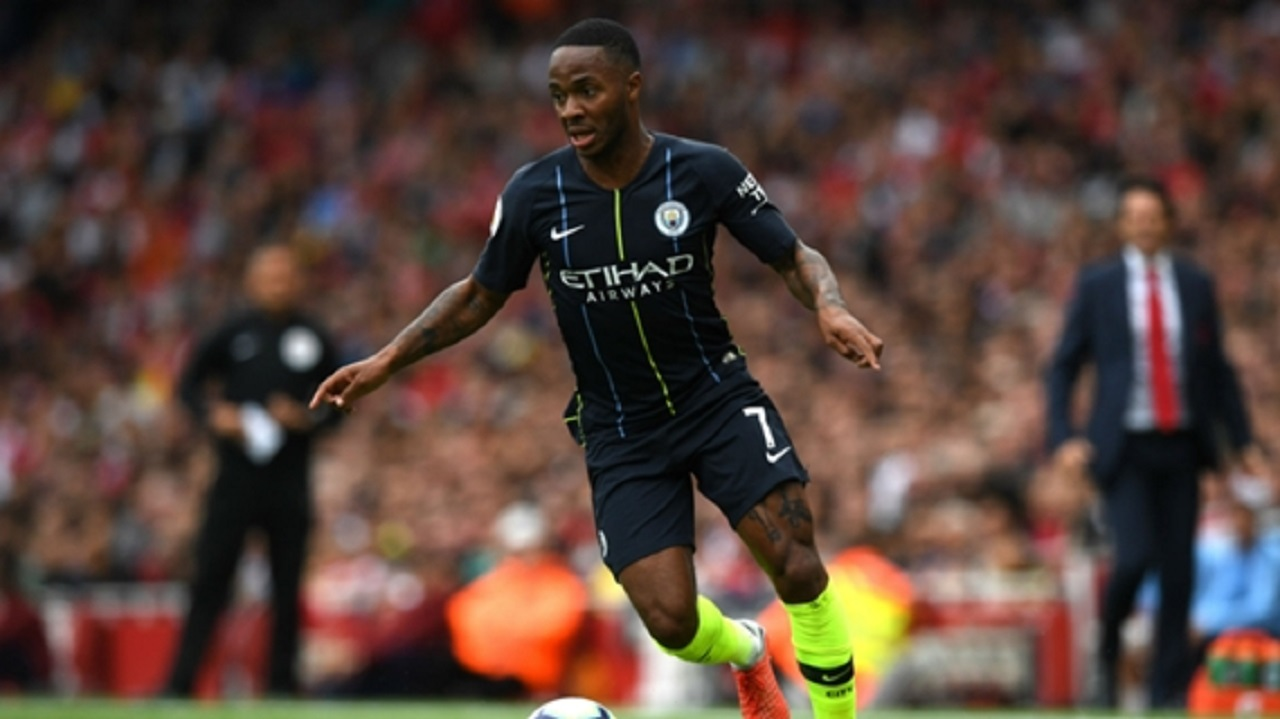 Manchester City winger Raheem Sterling.