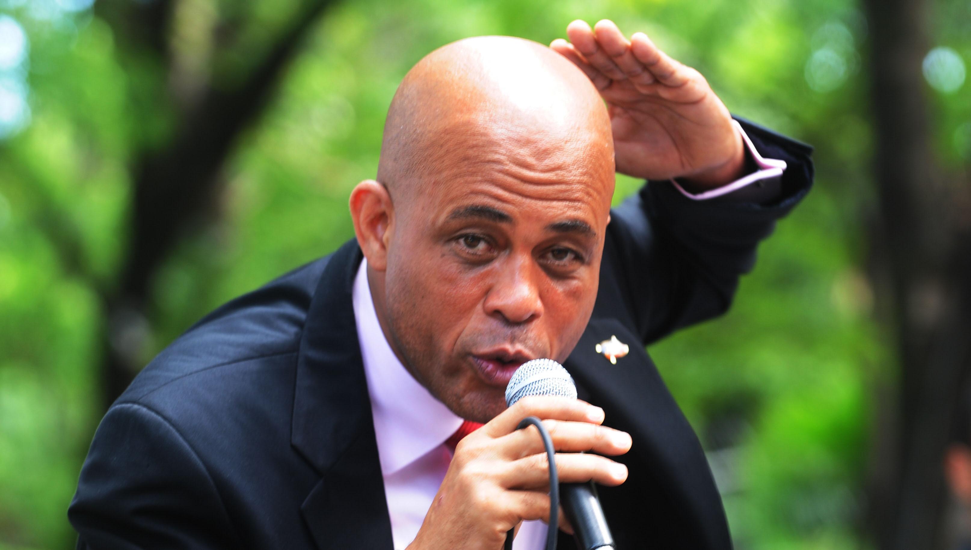 Martelly précise ses propos sur Marriot, Best Western et El Rancho. Photo: AFP