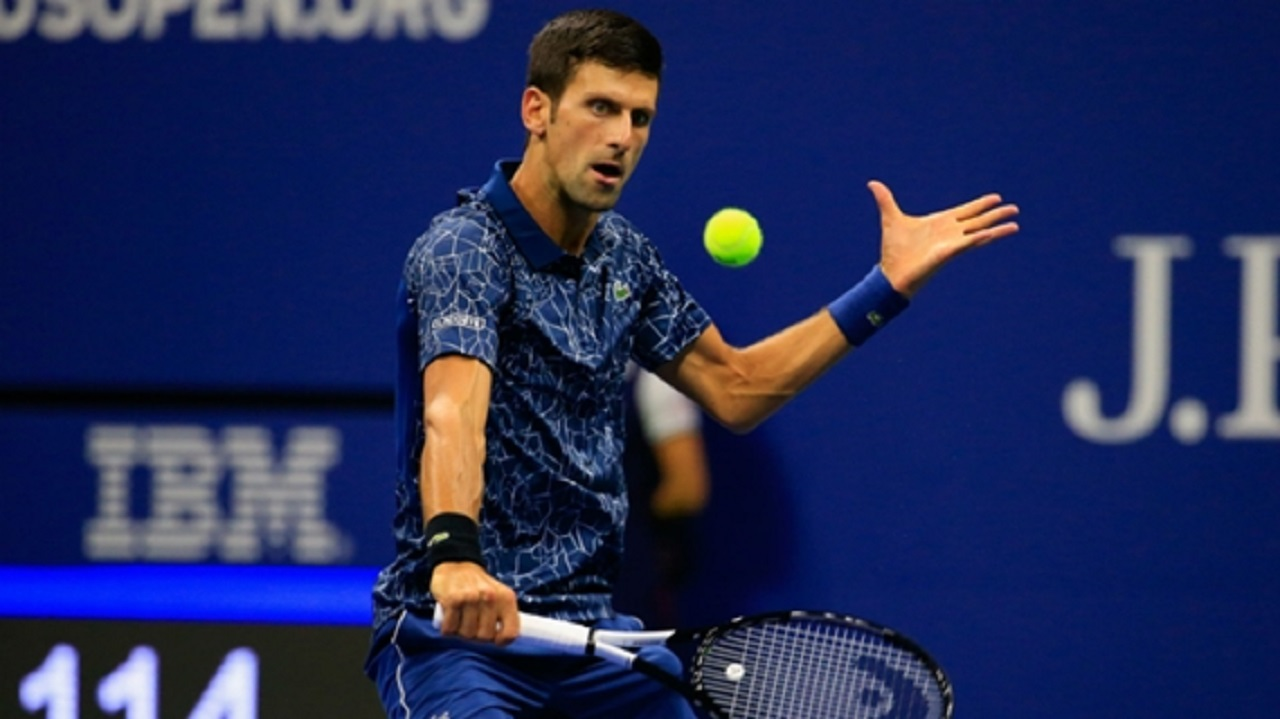 Novak Djokovic during his win over John Millman.