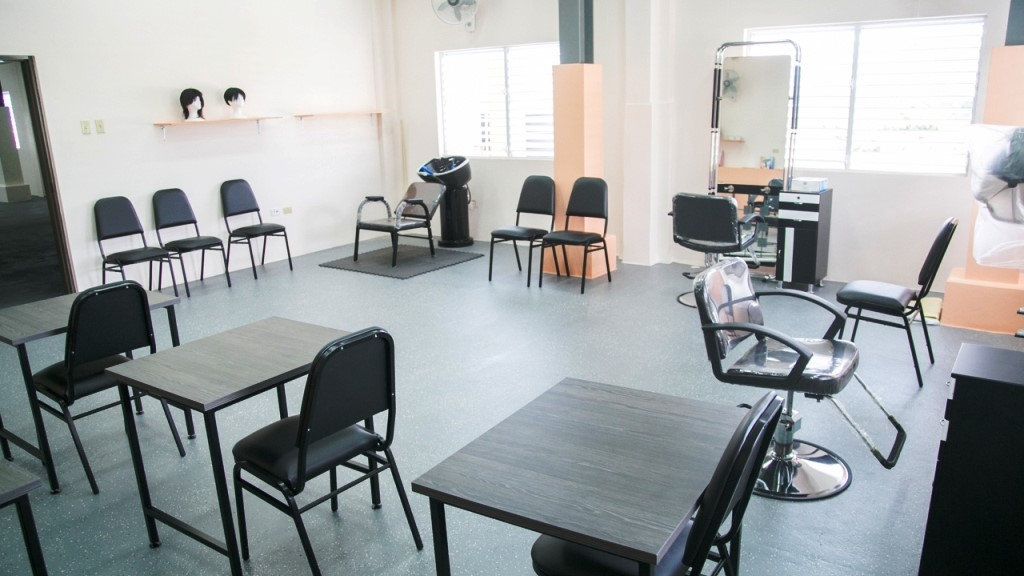 A view of the Vocational Training Space located at the St. Dominic's Children's Home where the hairdressing and barbering courses will be conducted