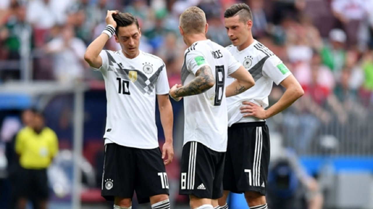 Mesut Ozil, Toni Kroos and Julian Draxler at the World Cup.