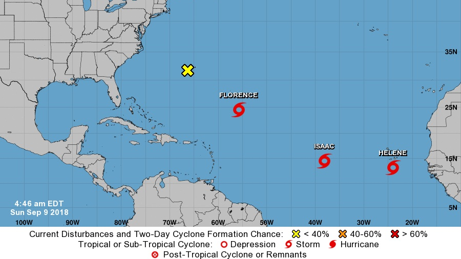 Florence isn't the only one; 3 more hurricanes brewing