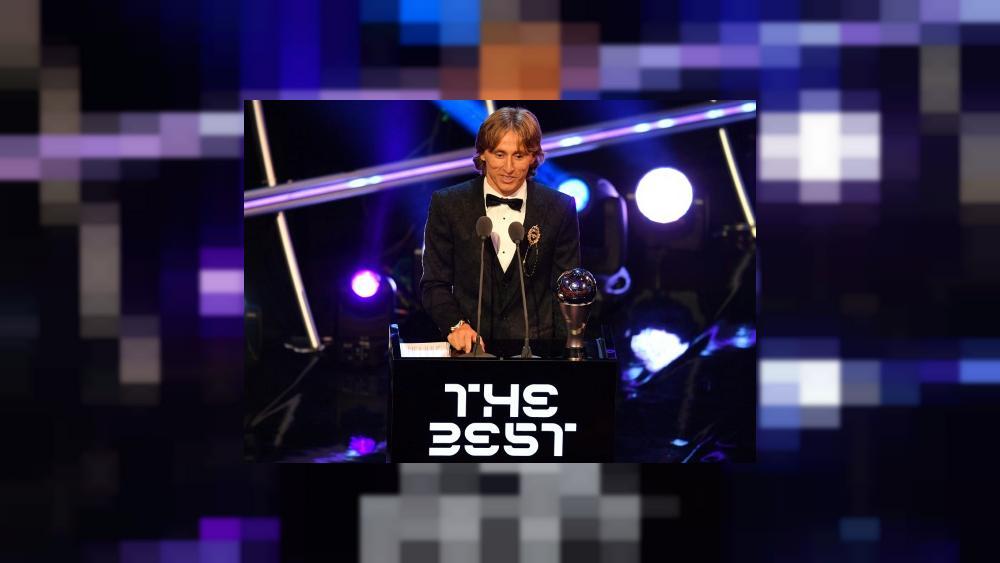 Le meneur de jeu croate du Real Madrid Luka Modric sacré meilleur joueur de l'année aux Trophées Fifa le 24 septembre 2018