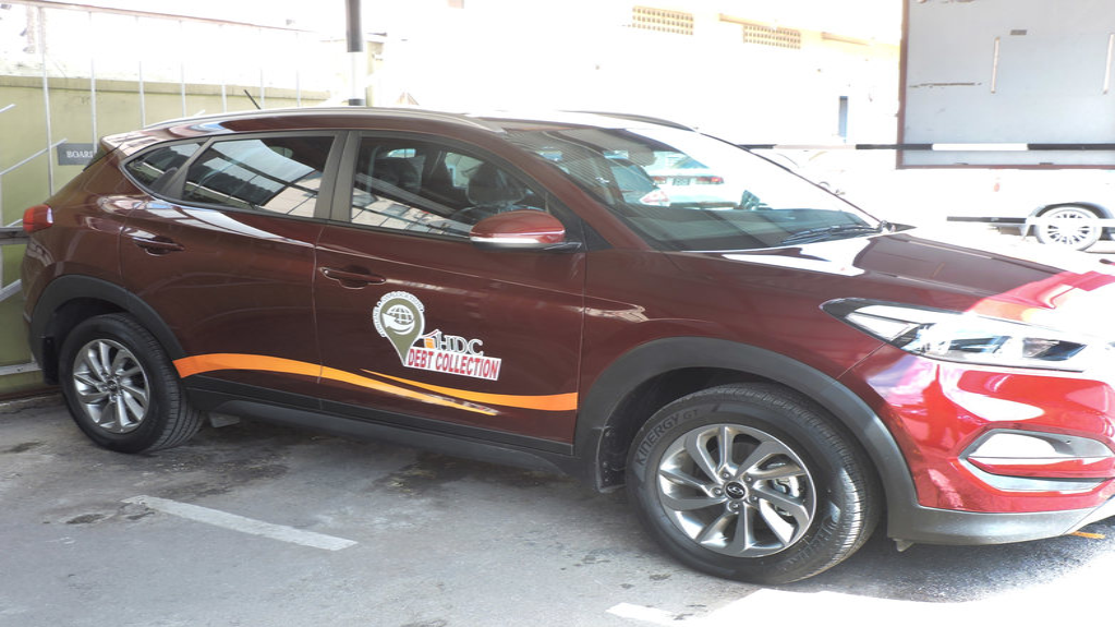 HDC's new Debt Collection vehicle. Photo courtesy The Housing Development Corporation (HDC)