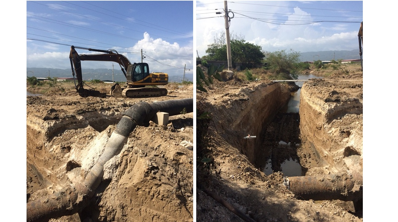 Work has started to effect repairs at the Passage Fort Drive/Dyke Road intersection in Portmore, St Catherine.