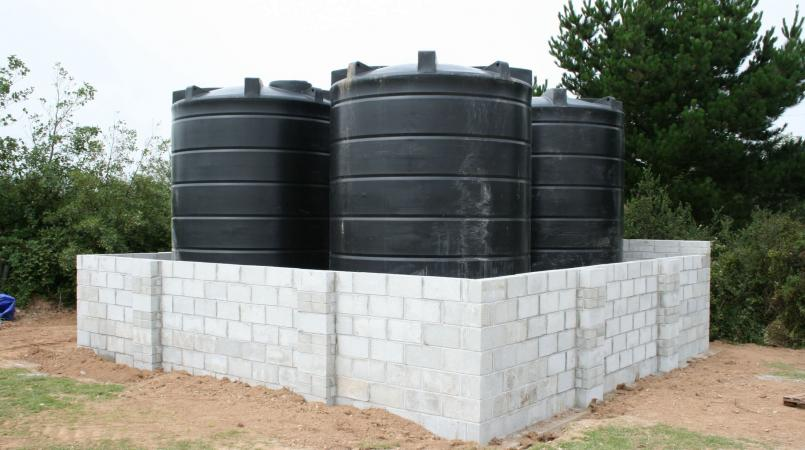 Stock photo of water tanks.