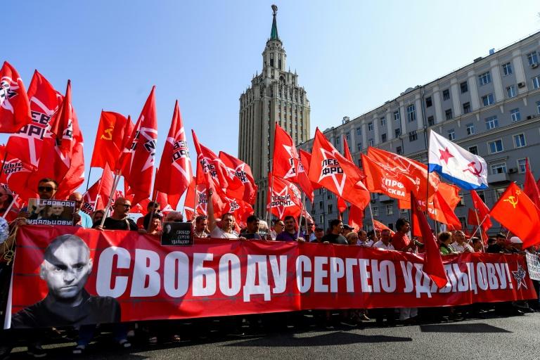 Manifestation contre la réforme des retraites à Moscou, le 2 septembre 2018