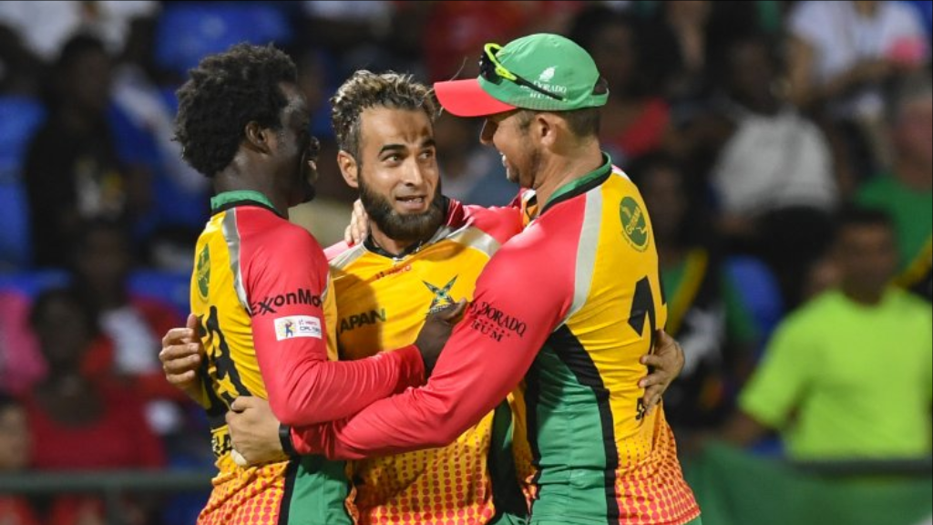Imran Tahir took 2-12 in the Guyana Amazon Warriors victory over the Barbados Tridents