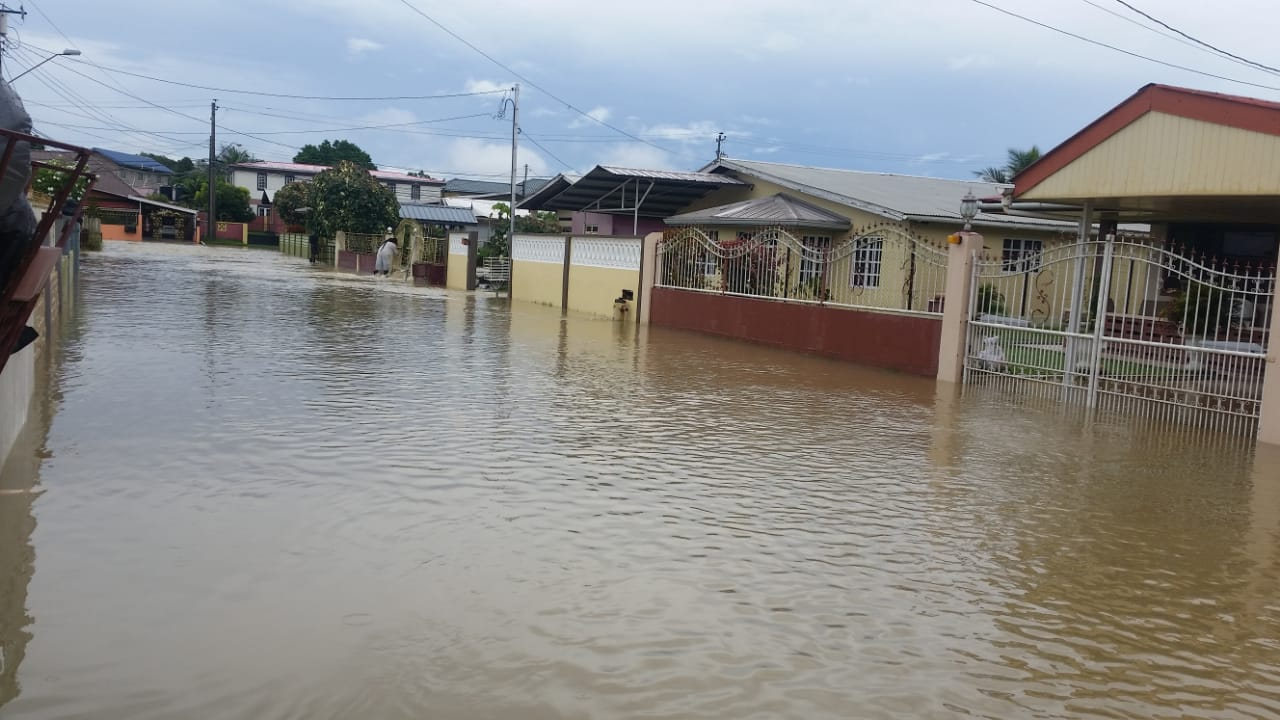 Flash flooding was reported at Fairview Park, Freeport. Photo via the Office of Disaster Preparedness and Management (ODPM).
