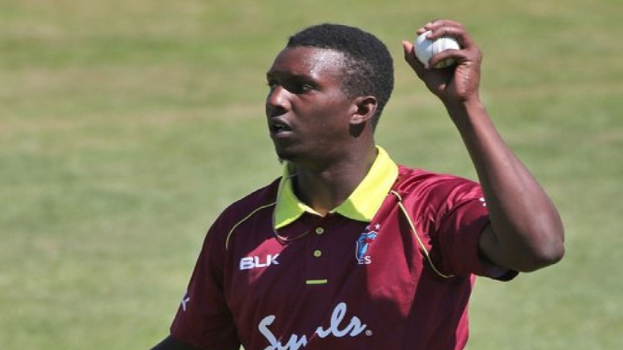 Right-arm fast bowler Shermon Lewis.