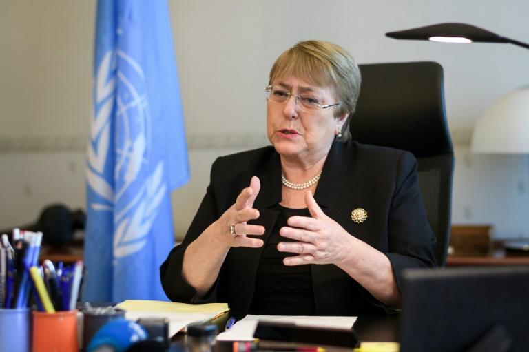 La cheffe de l'ONU pour les droits de l'Homme Michelle Bachelet à Genève le 3 septembre 2018