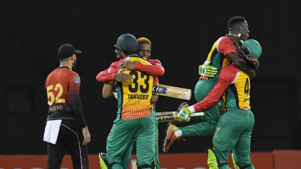 Guyana Amazon Warriors celebrate qualifying for their 4th Hero CPL final