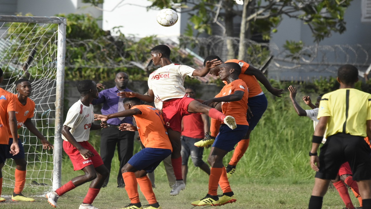 Action from the ISSA/Digicel Manning Cup second leg game between Mona High and Dunoon Technical High School at Mona High on Monday, October 8, 2018. Mona won 3-1. (PHOTOS: Marlon Reid).