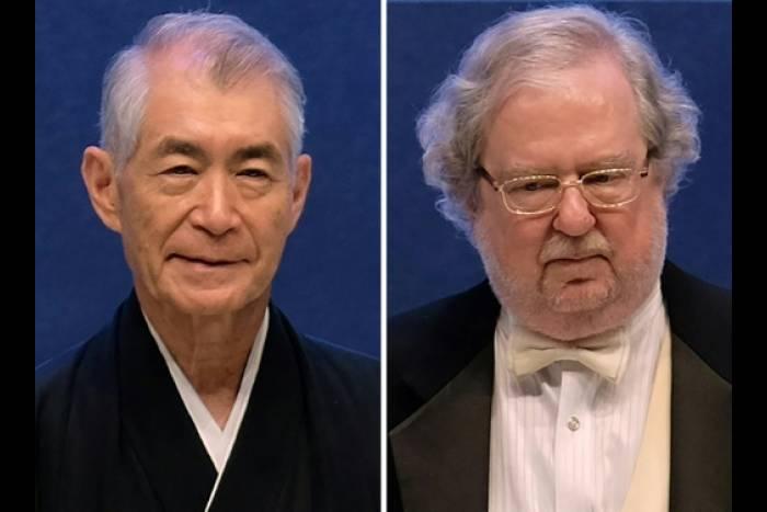 Le Japonais Tasuku Honjo et l'Américain James P. Allison, sur un montage créé le 1er octobre 2018