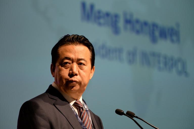 Le président d'Interpol Meng Hongwei, à Singapour le 4 juillet 2017