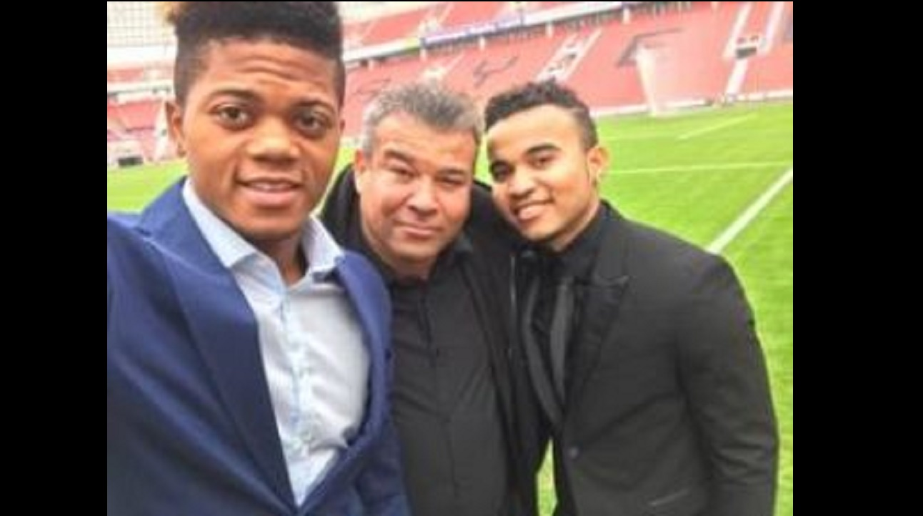 Craig Butler (centre) with Leon Bailey (left) and Kyle Butler (via Facebook)