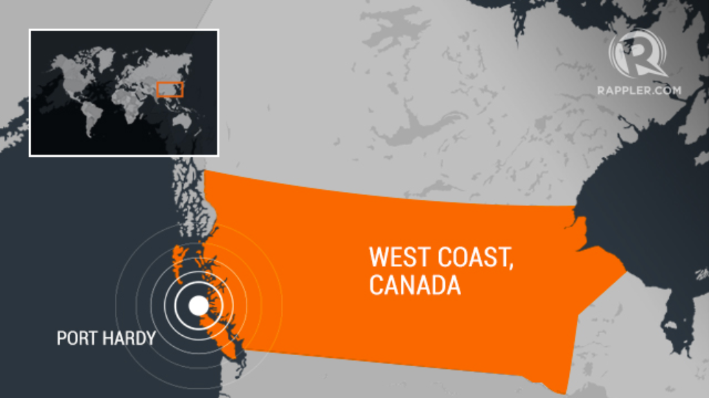 Several powerful earthquakes reported near Canadian coast