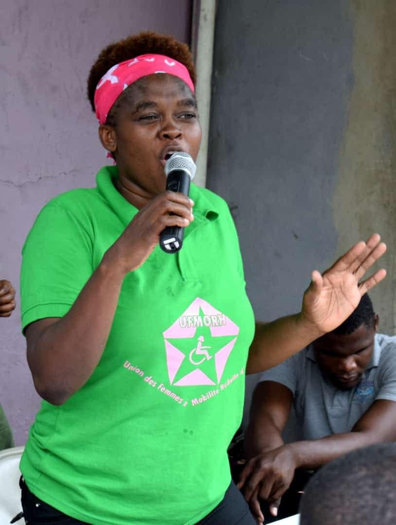 La coordonnatrice générale de l'UFMORH Soinette Désir