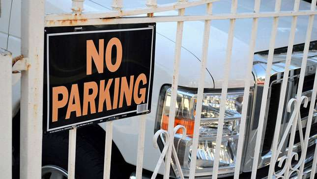 A no parking sign at someone's home. (Photo: Top Gear Philippines)