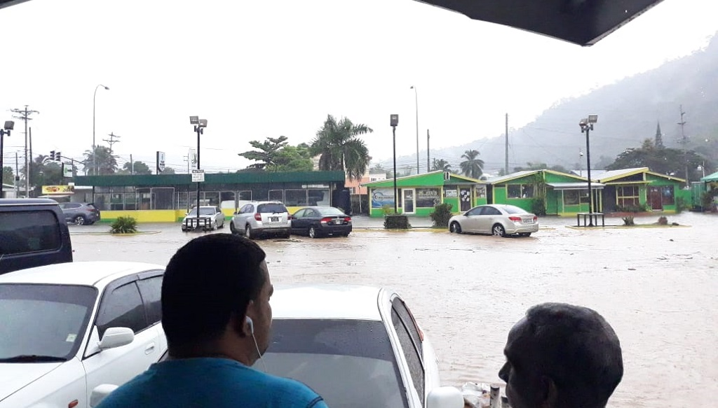 Photo: Thundershowers in north-west Trinidad on October 7, 1028 led to flash flooding parts of Diego Martin, including Diamond Vale.