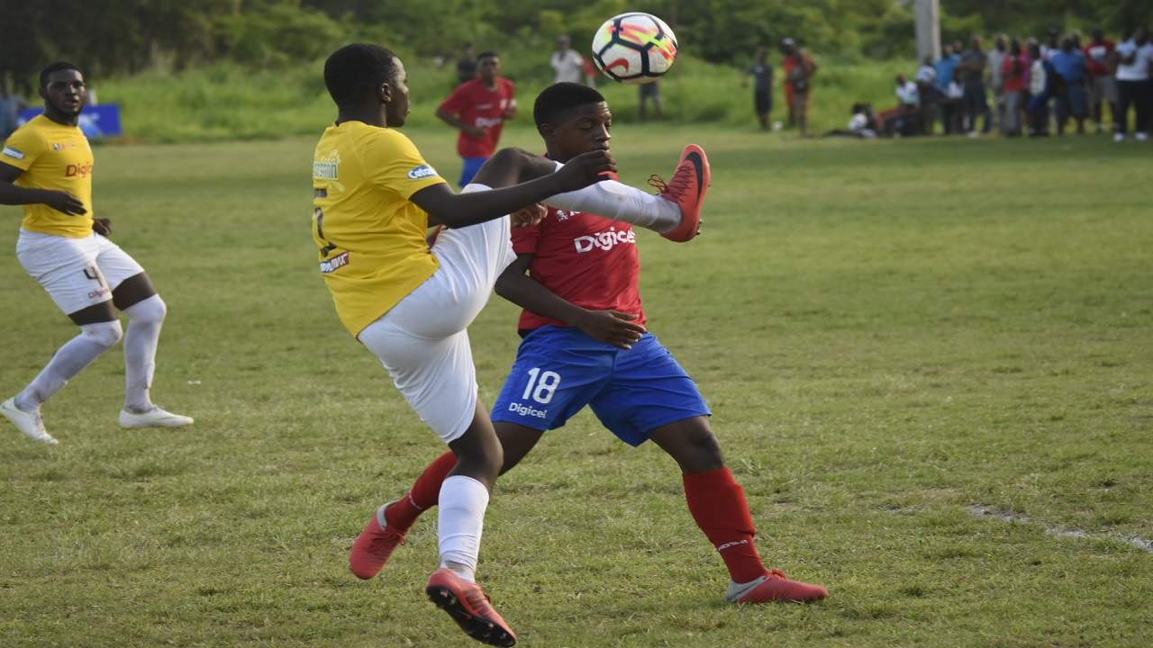 Photo shows action from the  ISSA/Digicel Manning Cup match between Charlie Smith and Camperdown at the Alpha Institute on September 22. The match ended in a 0-0 draw. The teams face off again today. (PHOTO: Marlon Reid).