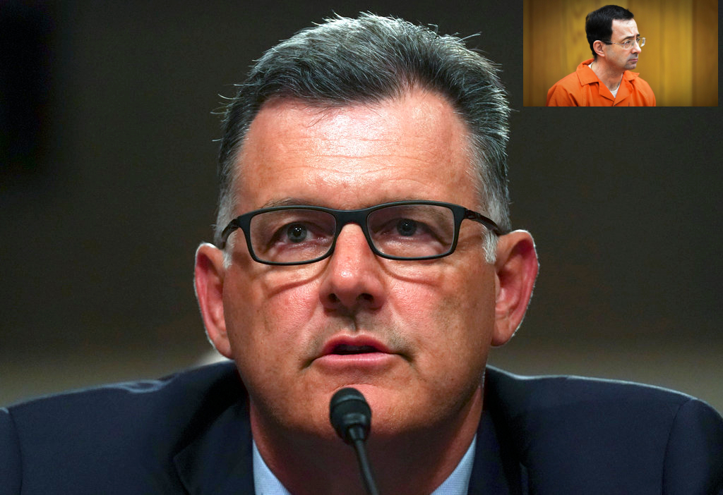 Former USA Gymnastics president Steve Penny. (AP Photo/Carolyn Kaster, File).
