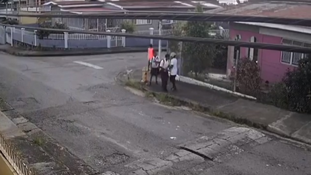 Photo: CCTV footage dated October 8, 2018, showed several school students being robbed as they walked through St James after school.