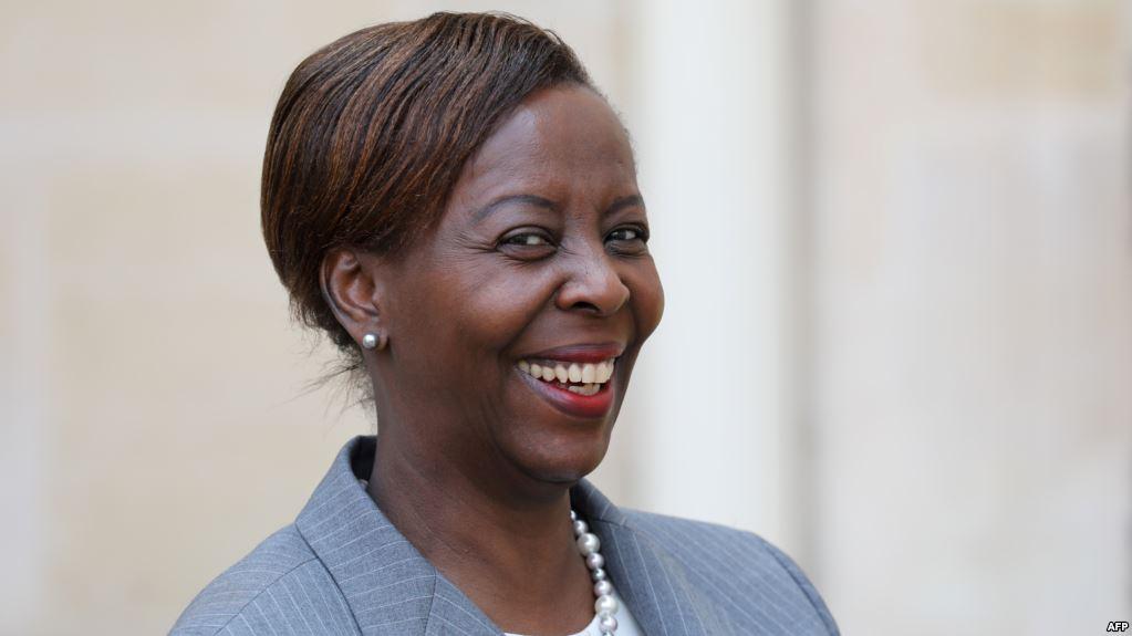 Louise Mushikiwabo, ministre rwandaise des Affaires étrangères, le 25 septembre 2018, à New York