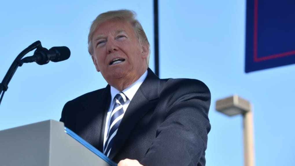 Le président américain Donald Trump à Elko (Nevada, sud-ouest des États-Unis) le 20 octobre 2018.