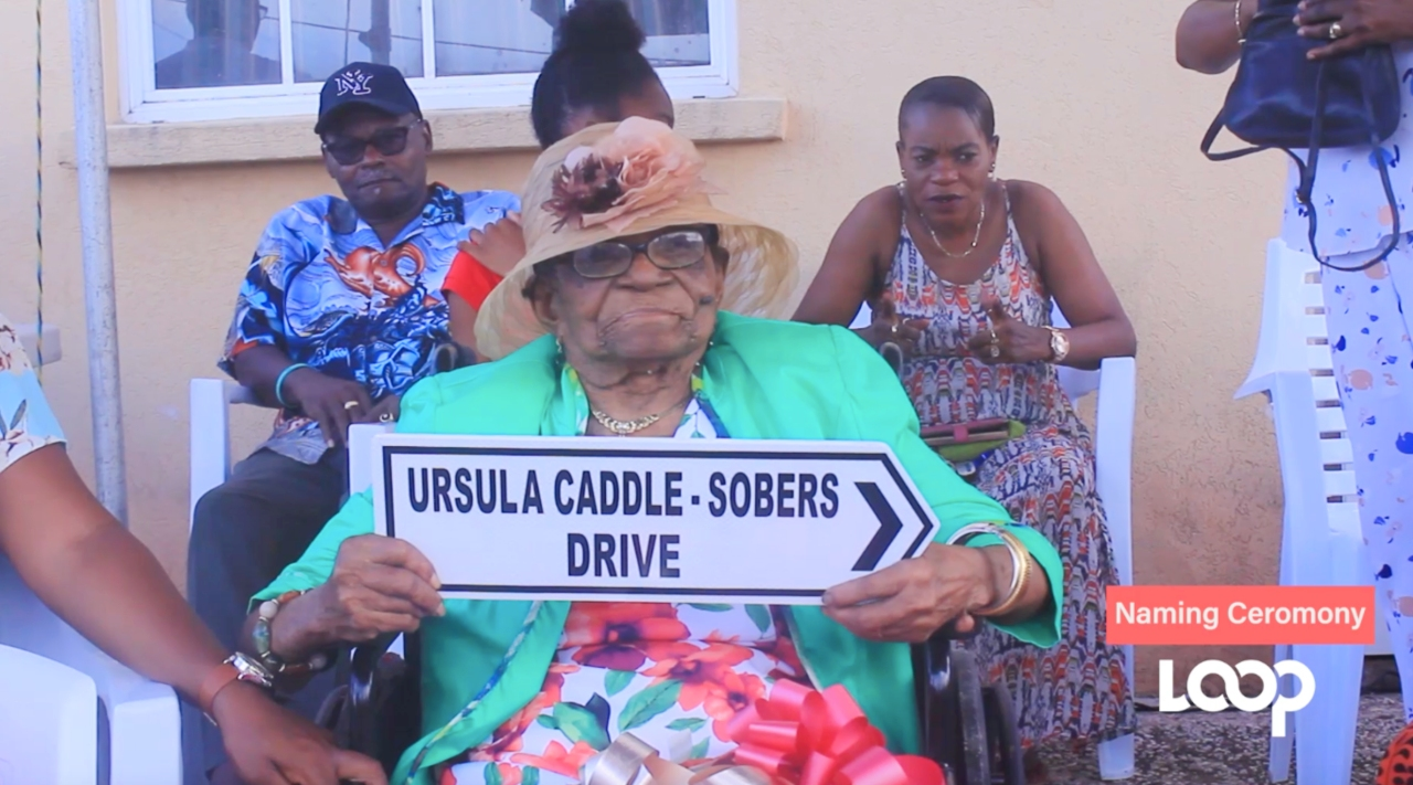 Ursula Caddle-Sobers was the talk of the town in Pie Corner last week.