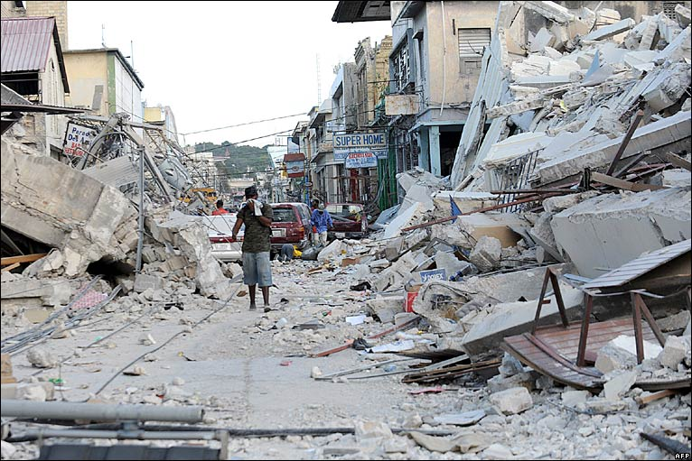 Photo: This 2010 photo shows the devastation which occurred after a 7.0 earthquake in Haiti that resulted in approximately 300,000 deaths.