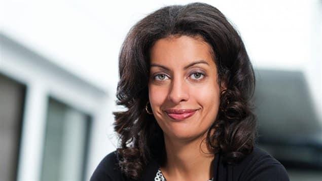 Dominique Anglade, fille du géographe haïtien Georges Anglade, réélu députée de la circonscription Saint-Henri Saint-Anne de Québec.