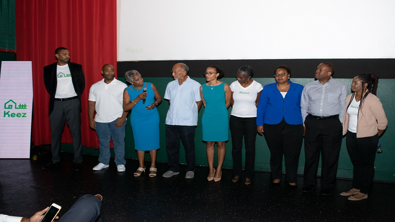 From l:R: Ajani Harris-WIlliams- CEO,  Marvin Whitfield- CTO,  Sandra Glasgow- Chair, Douglas Orane- Shareholder, Tracy-Ann Spence- VP of NCB Cap Markets, Janet Anderson- Qualifying Director and Nicole Brown- Board Member, Stephen Greig- Corporate Secretary and Annarhesia Farquarhson- Senior Adminstrative and Data Manager, SiFi Studios Jamaica Ltd.
