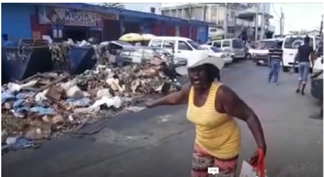 A concerned citizen outside one of the points of interest that led to the closure of a food business in Montego Bay last week.