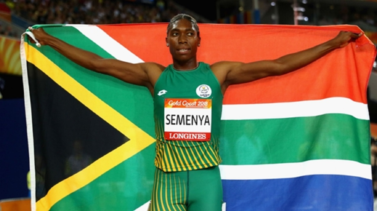 Double Olympic champion Caster Semenya.