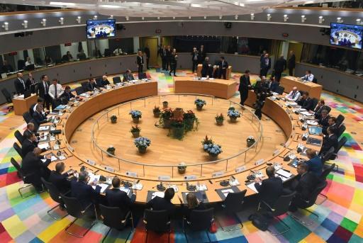 Les dirigeants européens réunis pour un sommet à Bruxelles, le 17 octobre 2018